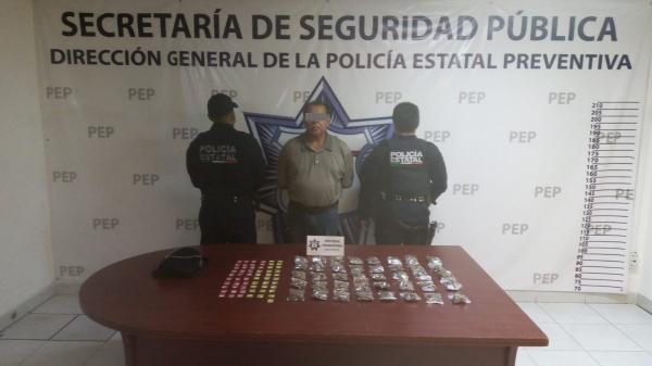 Detienen a presunto narcomenudista en Huauchinango