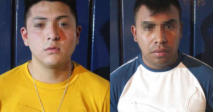 Capturan a dos presuntos asaltantes del transporte público en Puebla