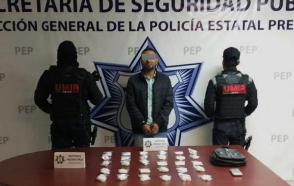 Detienen a presunto narcomenudista en Santa Lucía
