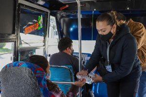 Supervisan 238 unidades de transporte público en la capital