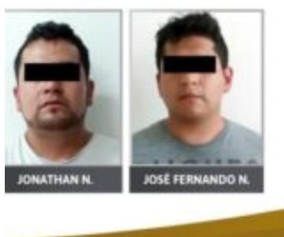 Otorgan 61 años de prisión a hombres acusados de robo y extorsión