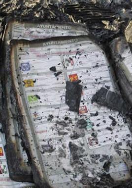 Incendian boletas habitantes de Tlahuapan por imposición de resultados