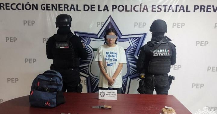 """Captura SSP a presunta operadora de """"Angelinos 13"""" en Atlixco"""