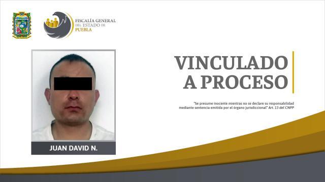 Vinculan a proceso a Juan David por violar y robar a jovencita