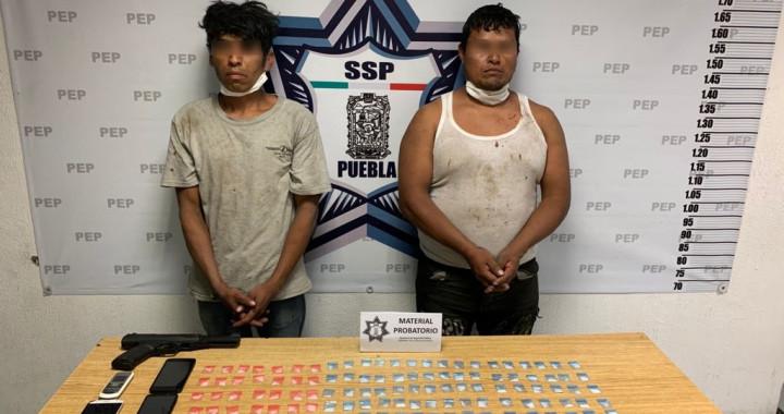 Detiene Policía Estatal a dos presuntos narcomenudistas