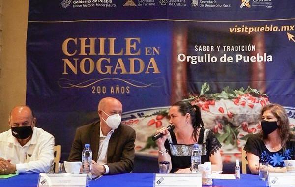 Turismo promueve 200 años del Chile en Nogada en Ciudad de México