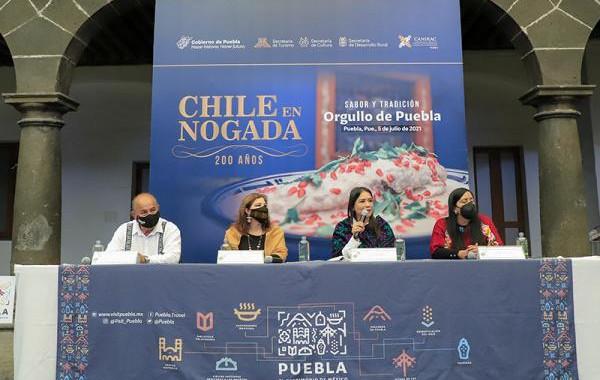 Lanza Turismo colaboración intermunicipal por los 200 años del Chile en Nogada