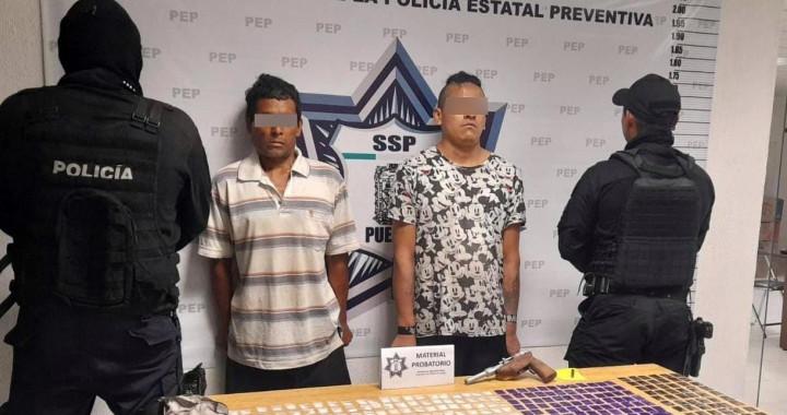 Detiene Policía Estatal a dos presuntos distribuidores de droga