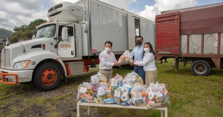 """Dona Fundación Granjas Carroll 9 toneladas de víveres a afectados por """"Grace"""""""