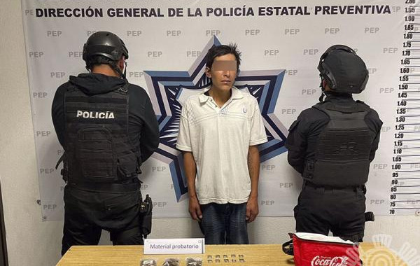Detienen a presunto distribuidor de droga en El Carmen