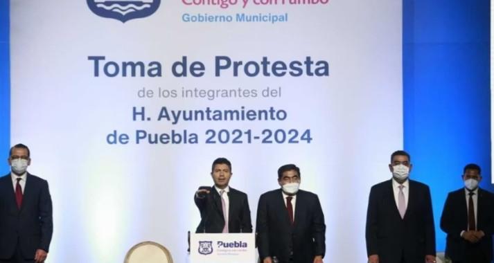 Toma de protesta del alcalde Eduardo Rivera