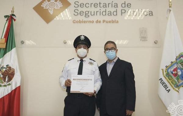 Reconoce titular de la SSP a Policía Estatal por su nobleza