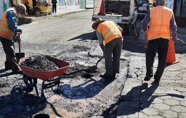 Infraestructura bachea carretera Serdán-San Martín Ojo de Agua