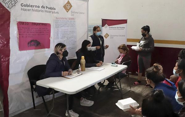 Efectúa SEDIF jornada de salud en estación migratoria de Puebla